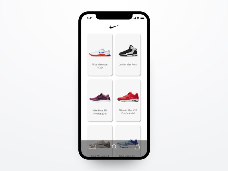 Nike Mobile App Concept