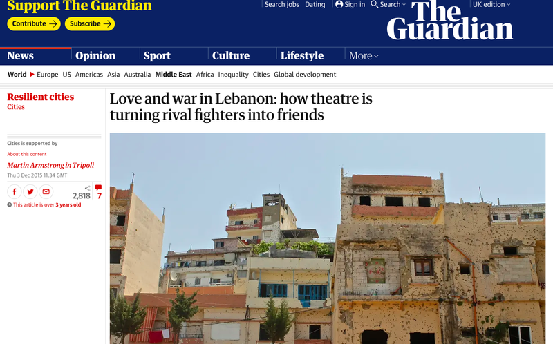 Love and war in Lebanon: how theatre is turning rival fighters into friends
