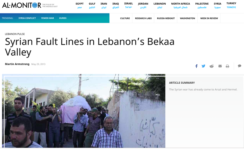 Syrian Fault Lines in Lebanon's Bekaa Valley