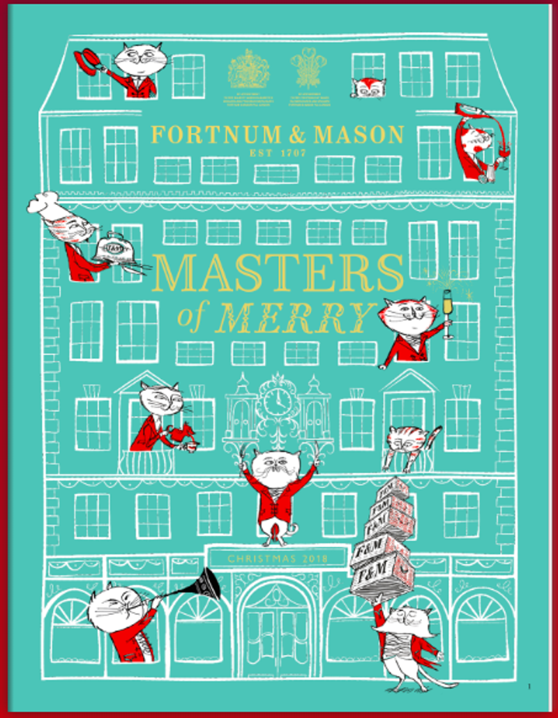 Fortnum & Mason Masters of Merry Christmas Brochure 2018