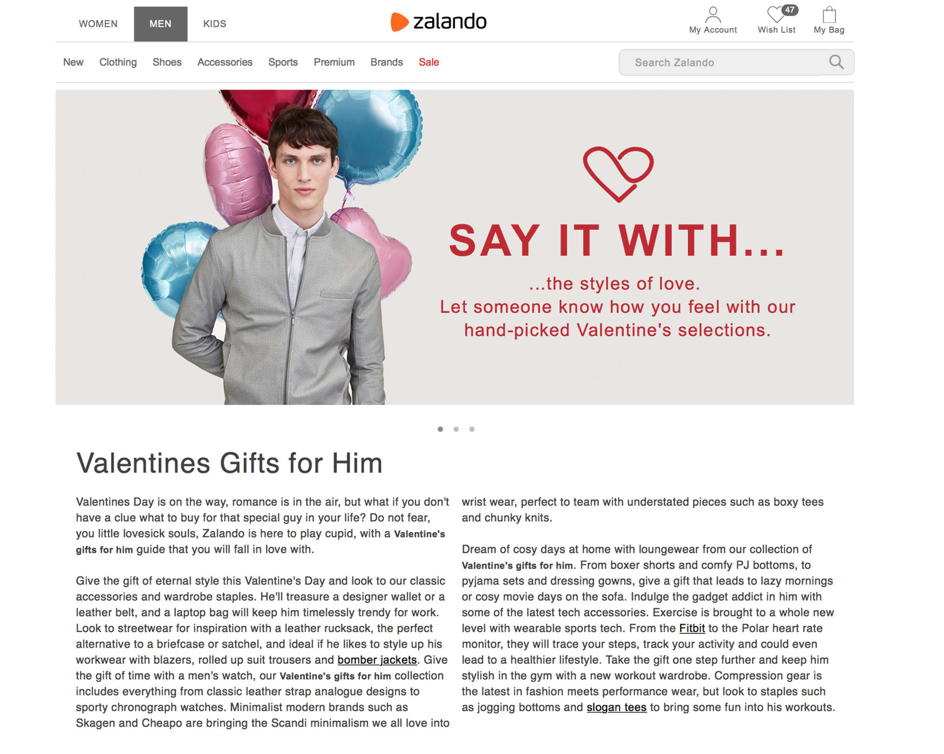 e5383c8c ... Zalando I covered everything from META descriptions and Valentine's  buying guides, London shopping guides and seasonal trend roundups, to  product launch ...