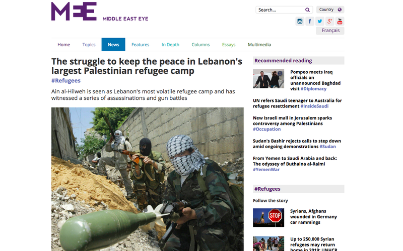 The struggle to keep the peace in Lebanon's largest Palestinian refugee camp