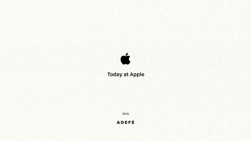 Today At Apple with Sam Adefé