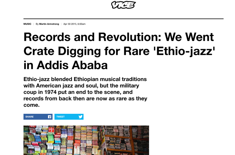 """Records and Revolution: Digging for """"Ethio-jazz"""" in Addis Ababa"""