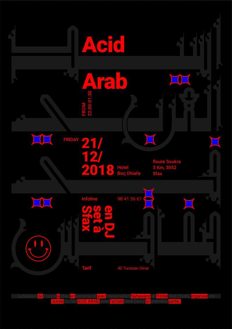 ACID ARAB en DJ set à Sfax Poster-اسيد العربي