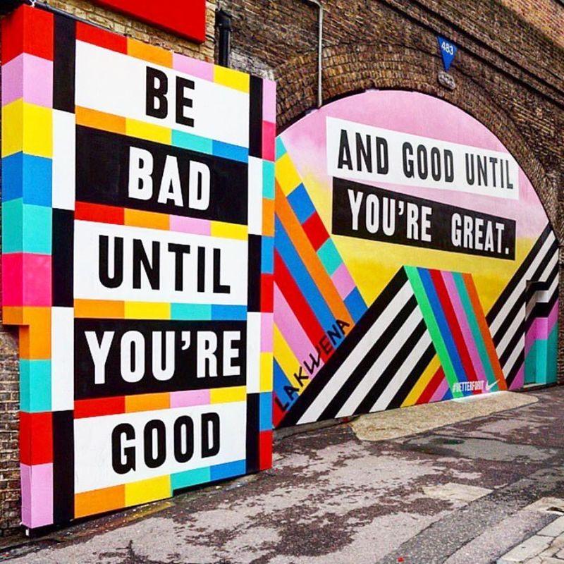 Frame Shoreditch x Lakwena x Nike #BetterForIt mural