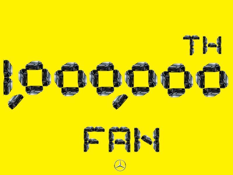 Mercedes - 1,000,000 TH Fan