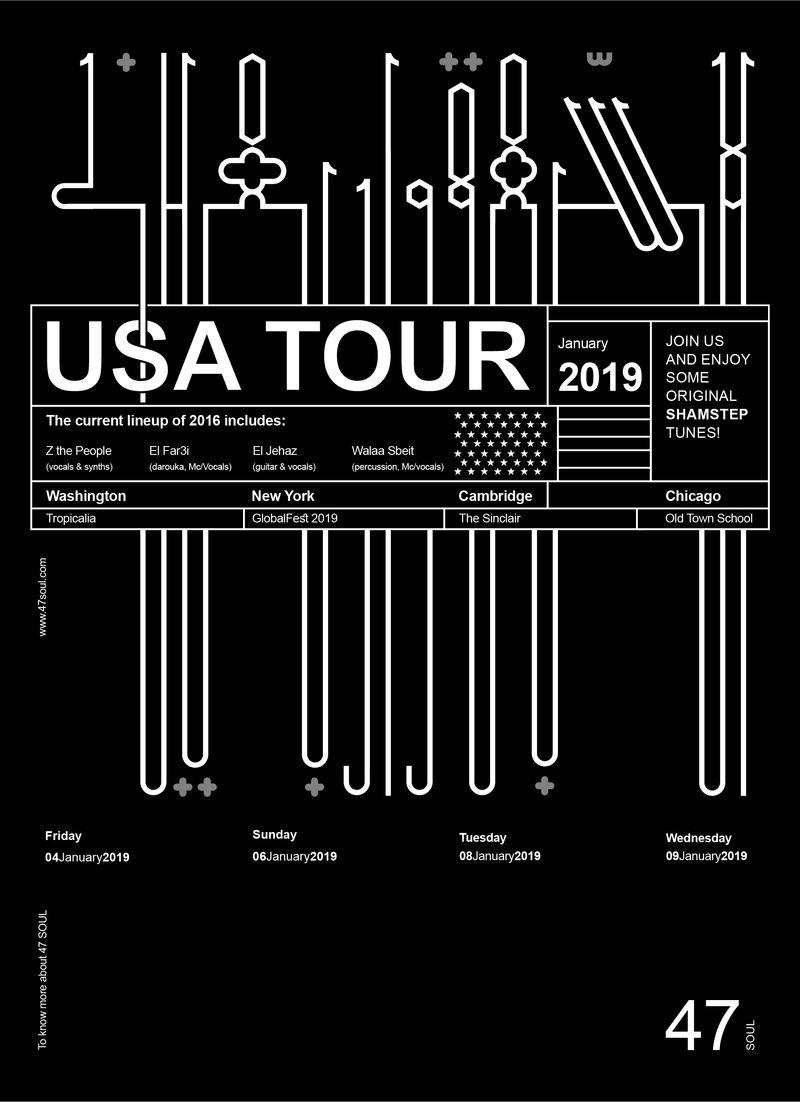 47 USA Tour Poster