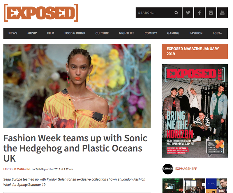 Fyodor Golan x Sonic the Hedgehog article for Exposed Magazine