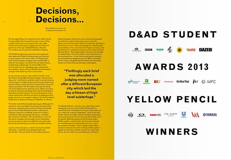 D&AD 2013 student awards