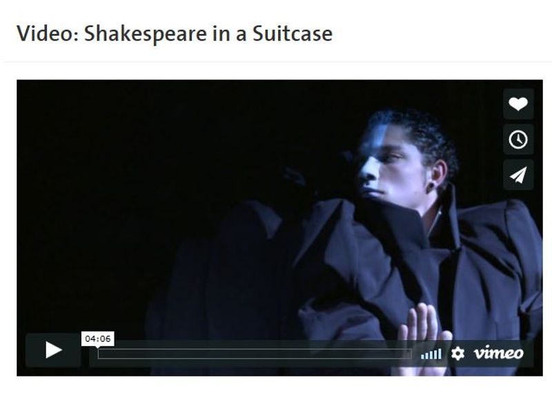 Shakespeare in a suitcase