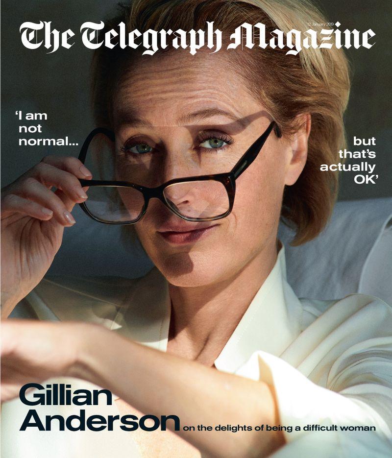 Gillian Anderson x Telegraph Magazine x Cedric Buchet