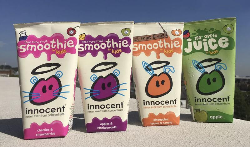 innocent kids smoothie back of packs