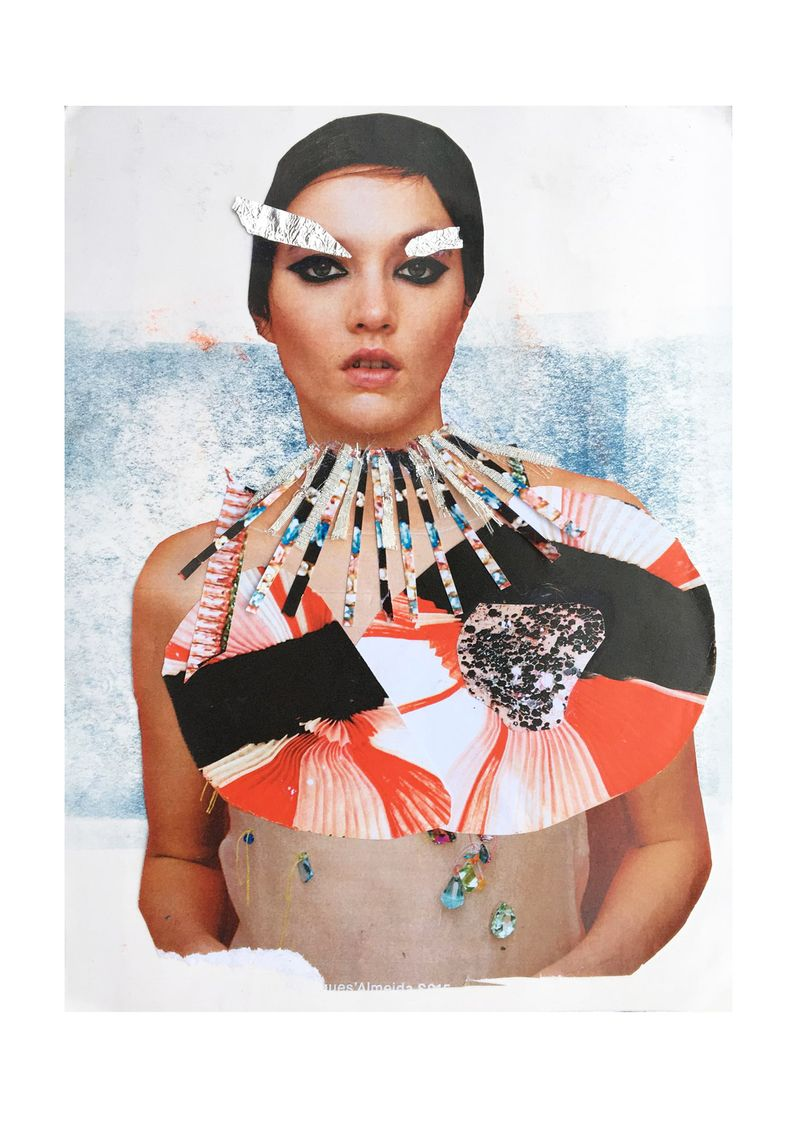 Garment research collage
