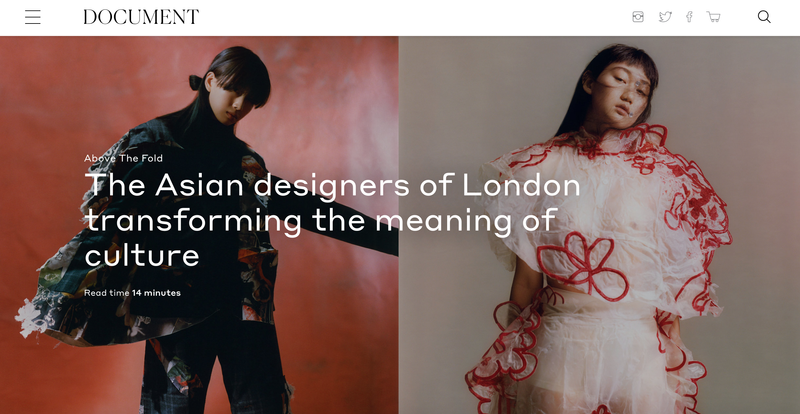 """""""The Asian designers of London transforming the meaning of culture""""/ Document Journal"""