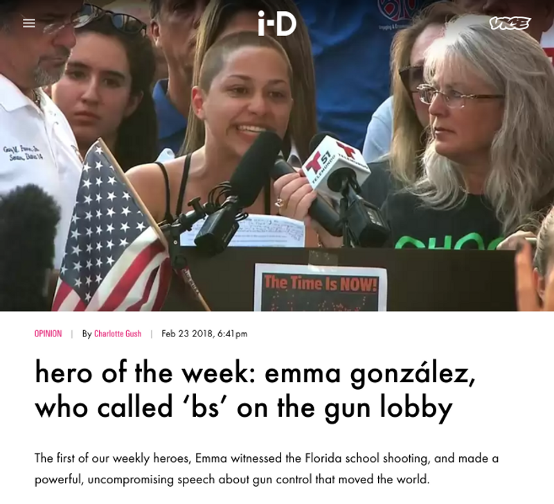 i-D Hero Of The Week Series