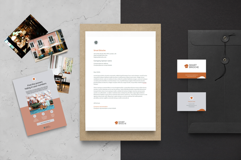 Visual identity & positioning for Smart Brioche: gourmet data for hospitality pros