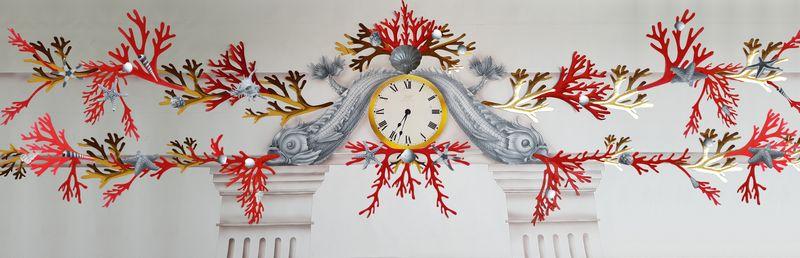 Jocelyn Burton Ltd: Heraldic Dolphin Clock