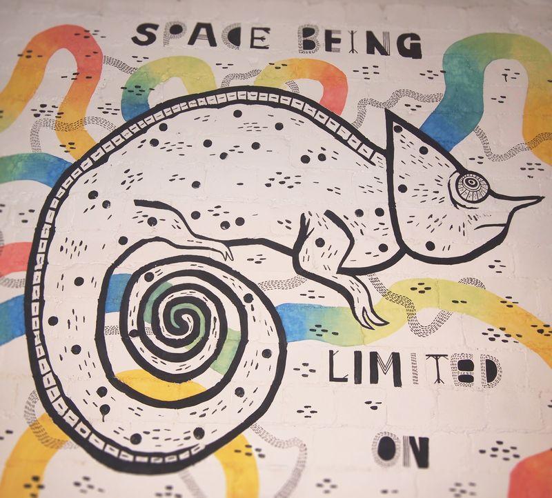 Chameleon mural