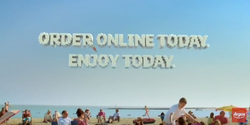 Argos TV advert: Order Online today and enjoy today