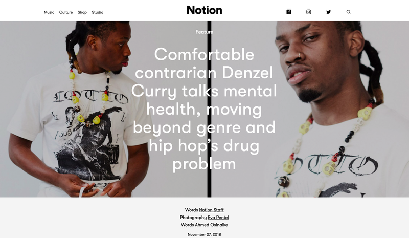 Interviewing Denzel Curry For NotionMag