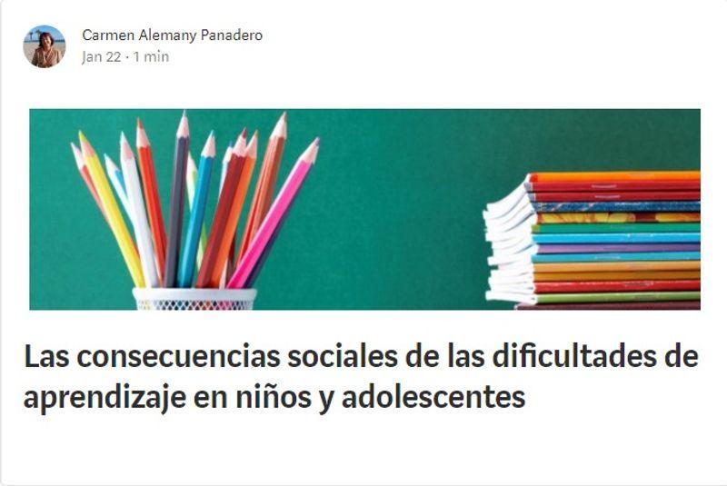 Las consecuencias sociales de las dificultades de aprendizaje en niños y adolescentes