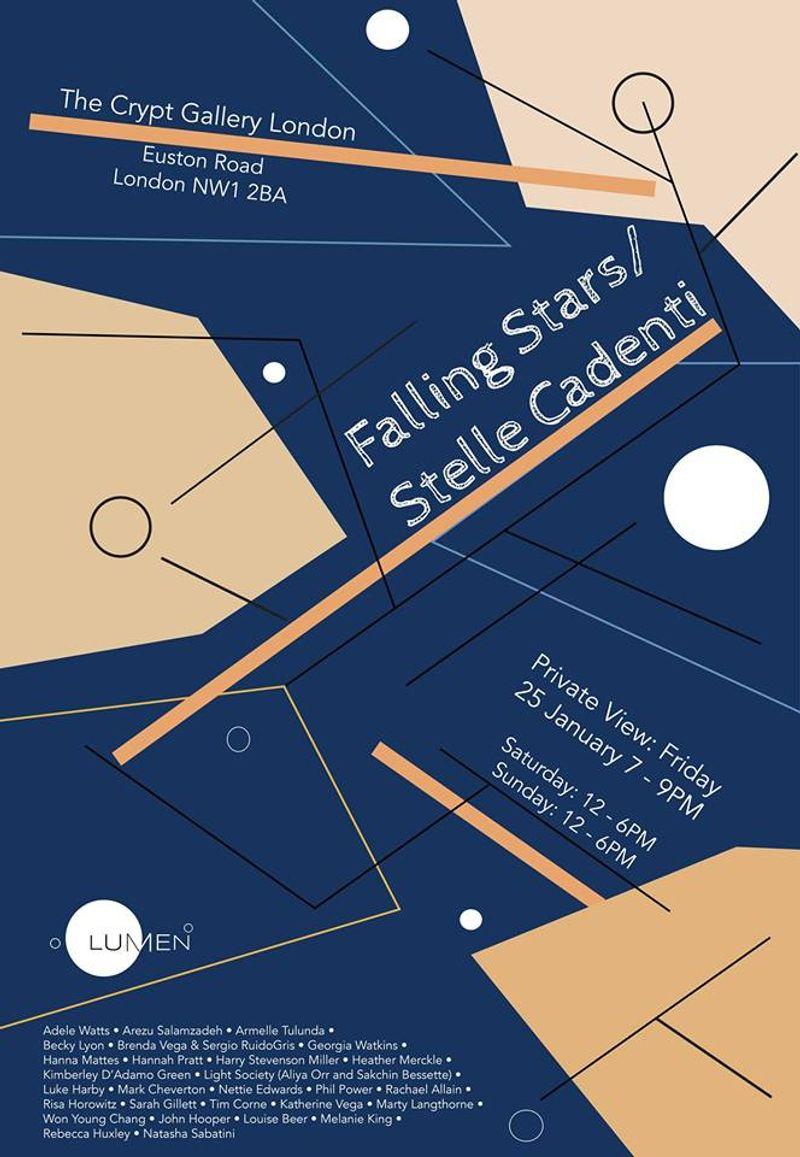 FALLING STARS // STELLA CADENTI // LUMEN RESIDENCY 2018 EXHIBITION, THE CRYPT GALLERY