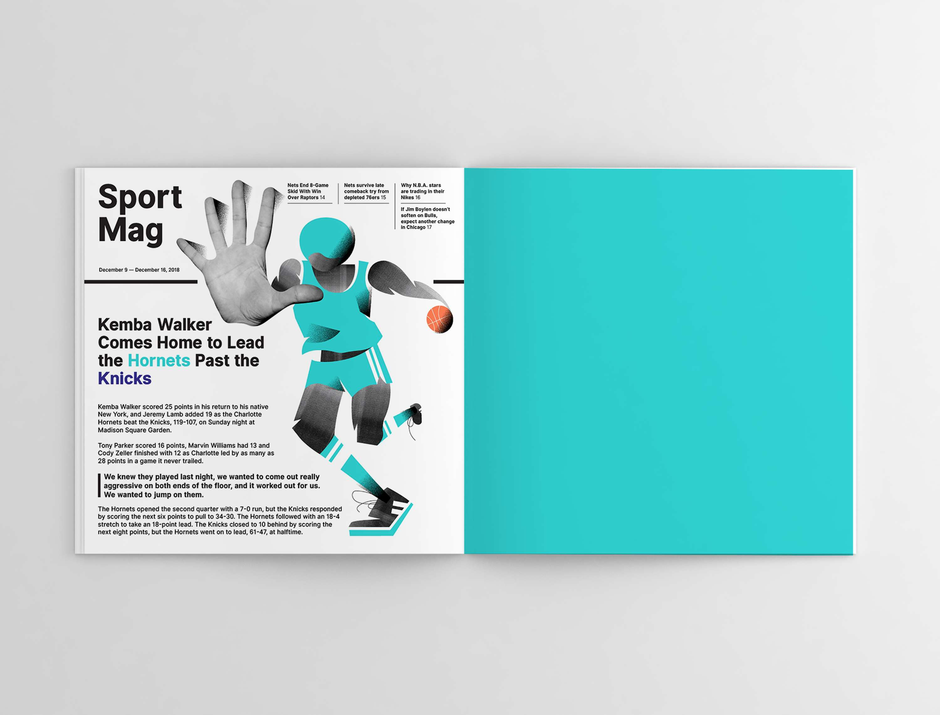 Editorial Illustration and Layout | The Dots