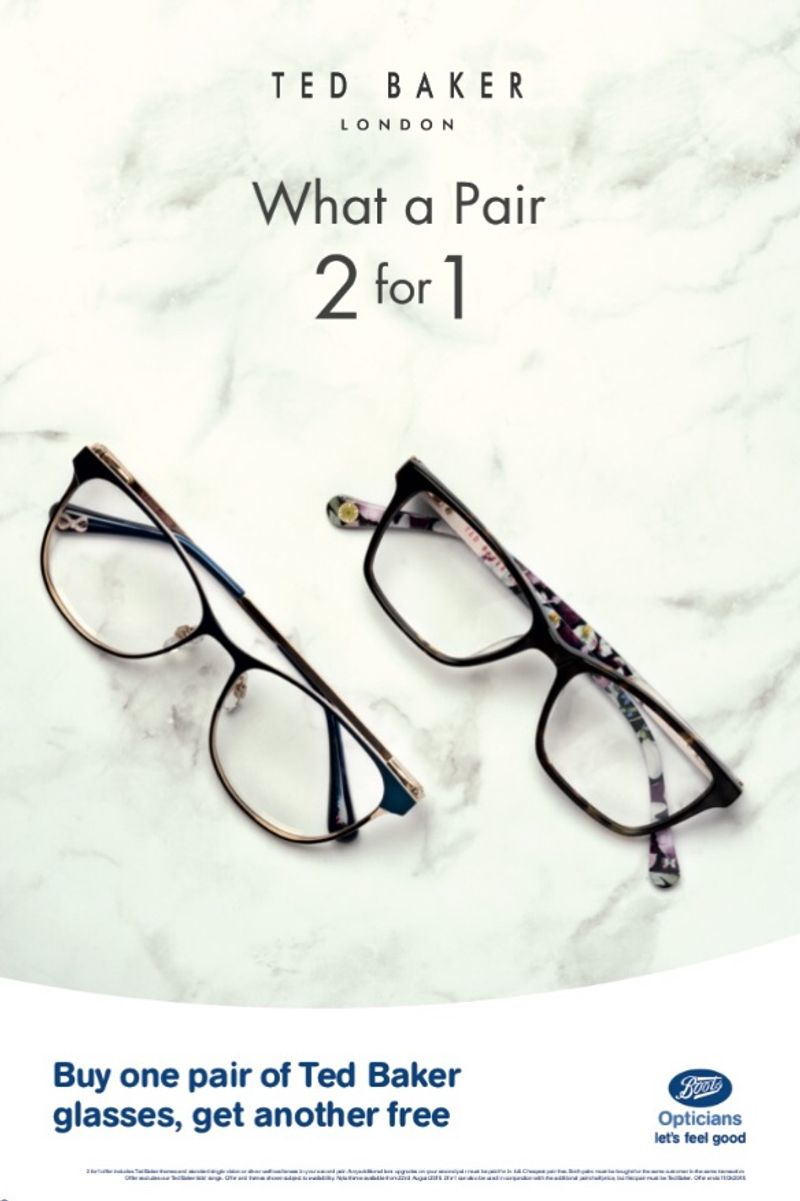 Ted Baker - Boots Opticians Nationwide Window Campaign