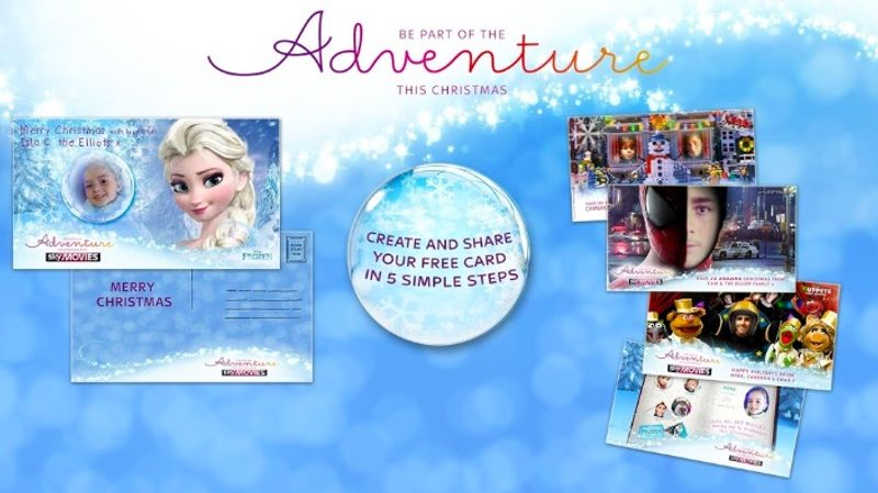 Sky Movies Christmas Cards (Social)