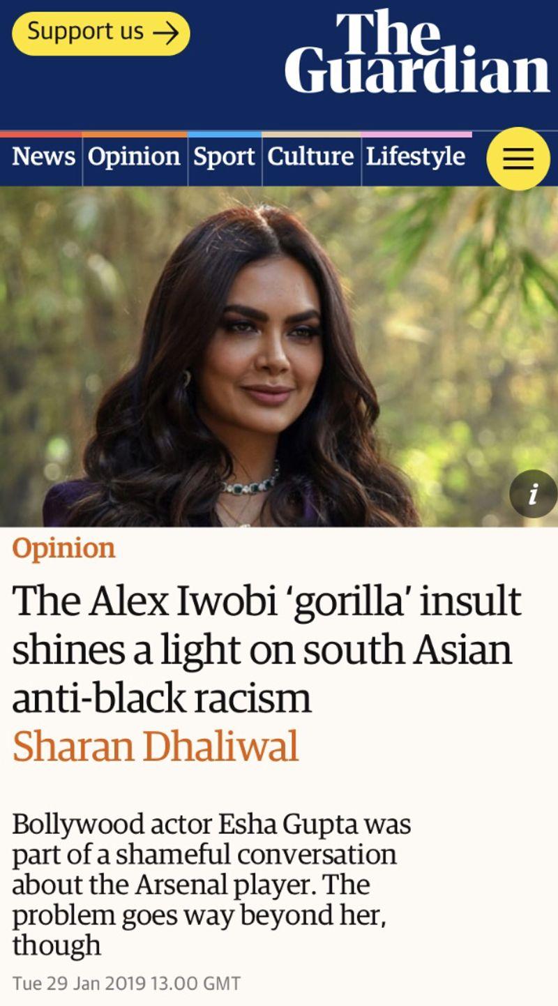 Guardian - Anti-Blackness in South Asian communities.