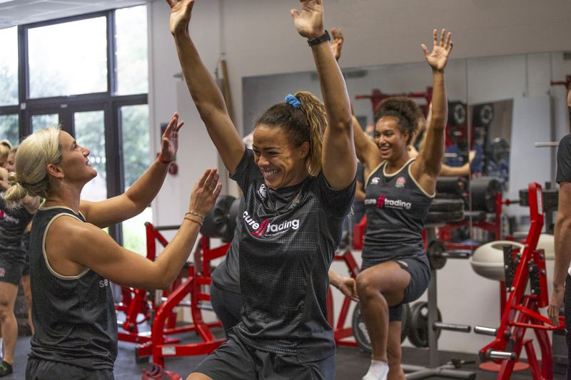 England women's Rugby 7's Training
