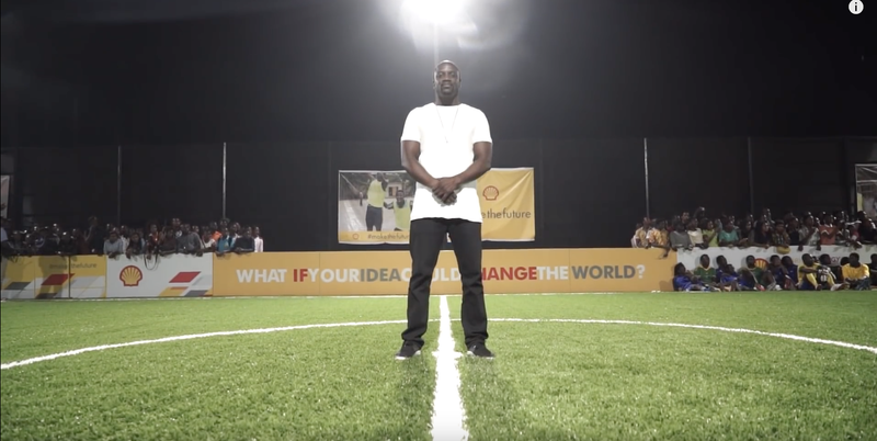 #MAKETHEFUTURE SHELL X AKON LAUNCH PLAYER POWERED PITCH IN LAGOS, NIGERIA