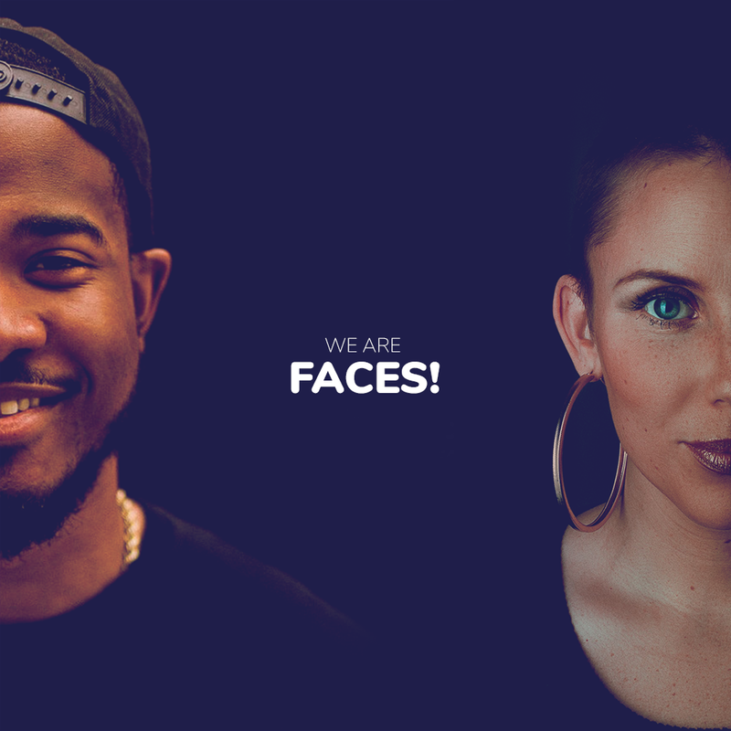 Brand identity and website for Faces