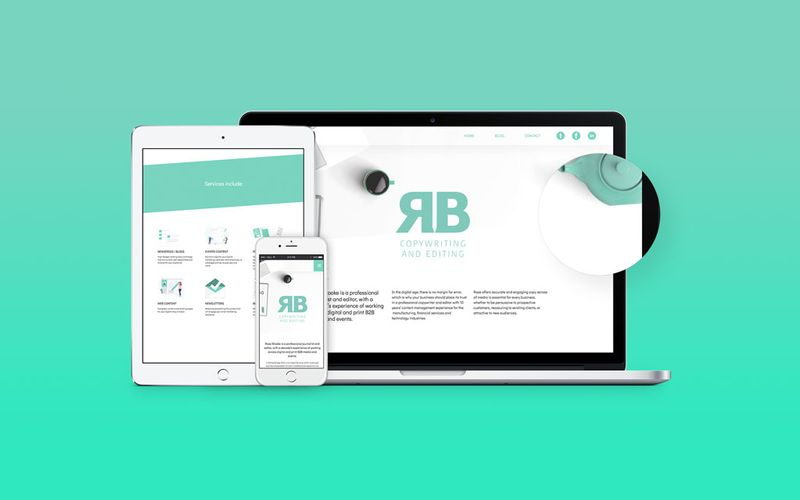 Responsive web design for RB Copywriting and editing