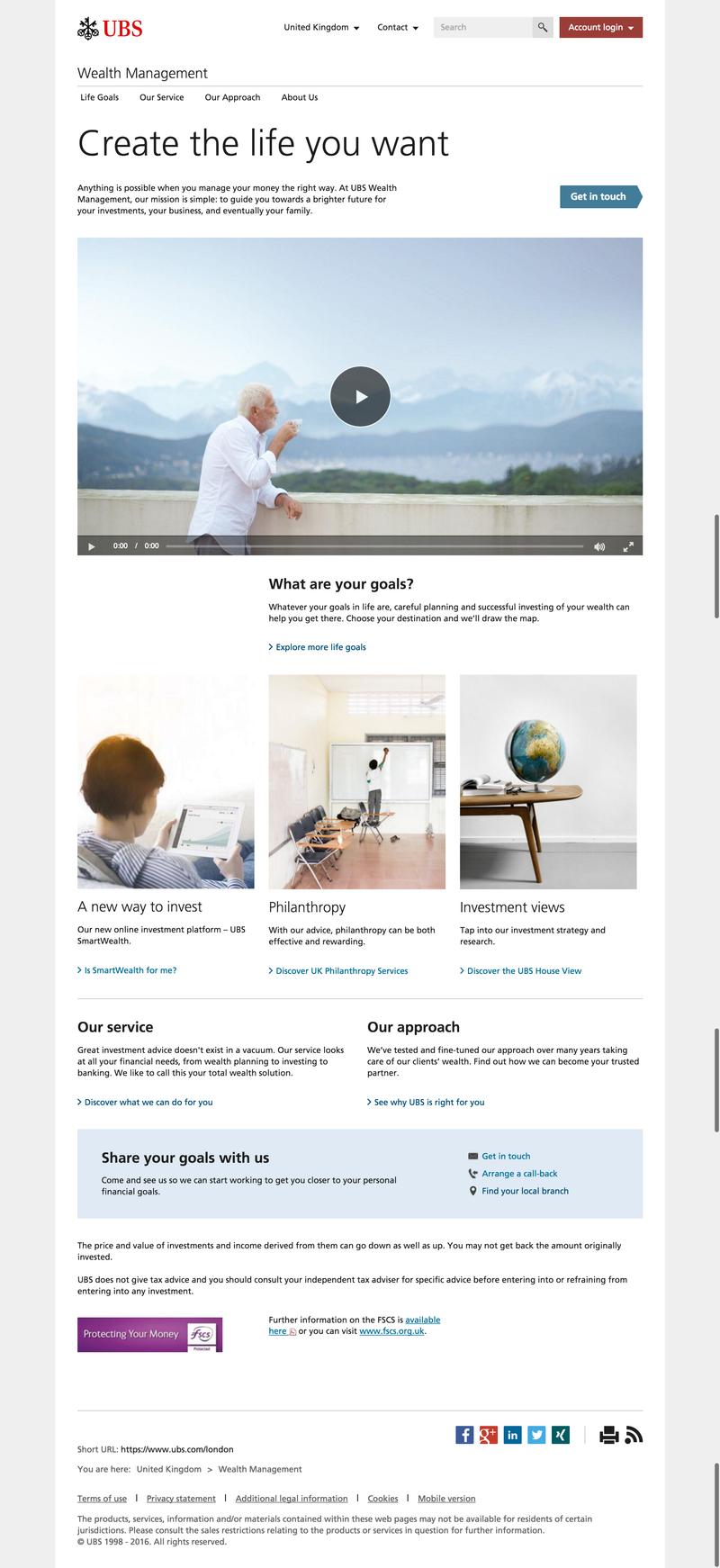 UBS Wealth Management website refresh