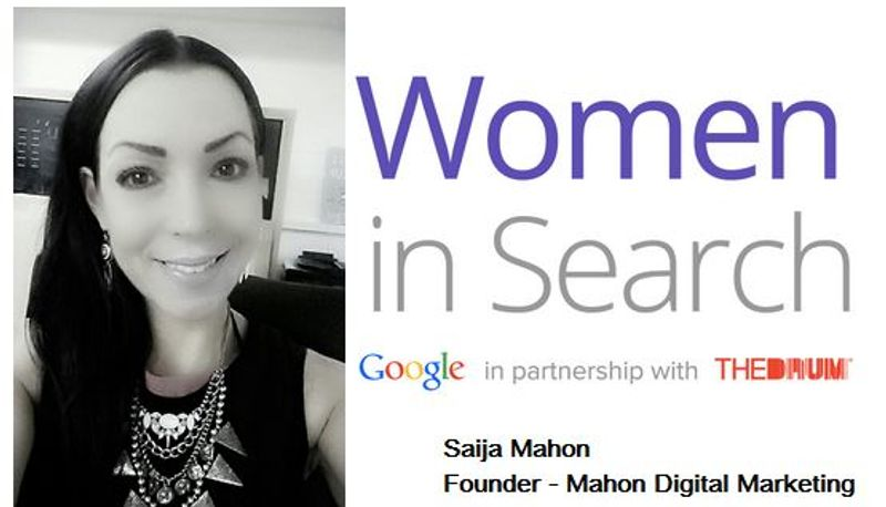 Saija Mahon, Founder of Mahon Digital Marketing Ltd reaches TOP 50 Women in Search – by Google: