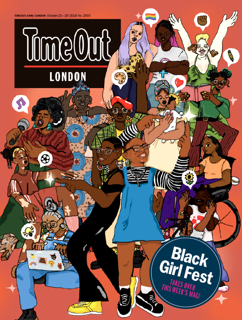 Time Out Cover for Black Girl Festival Takeover