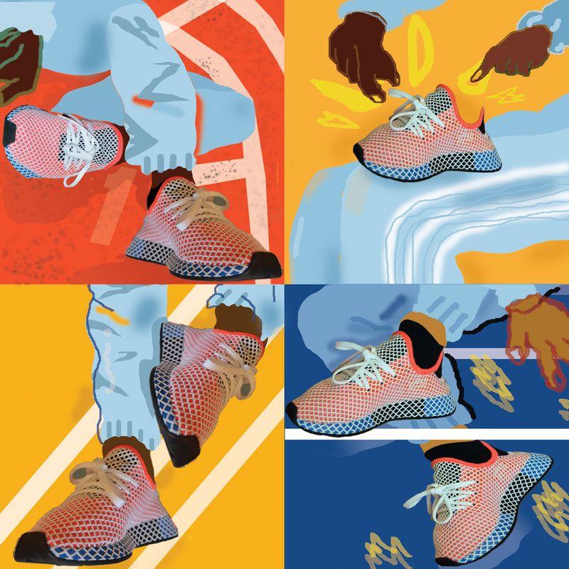 Adidas x gal-dem Deerupt Trainer Illustration
