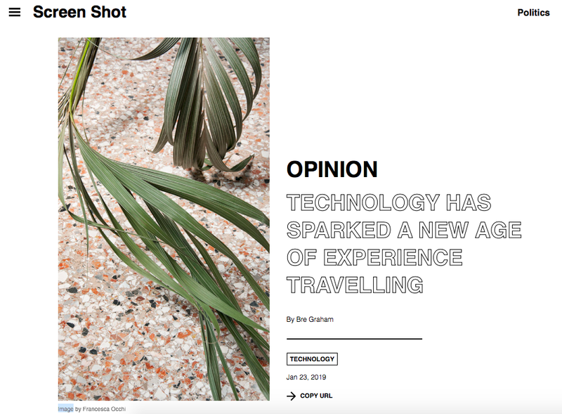 The Future of Travel Technology for Screenshot Magazine