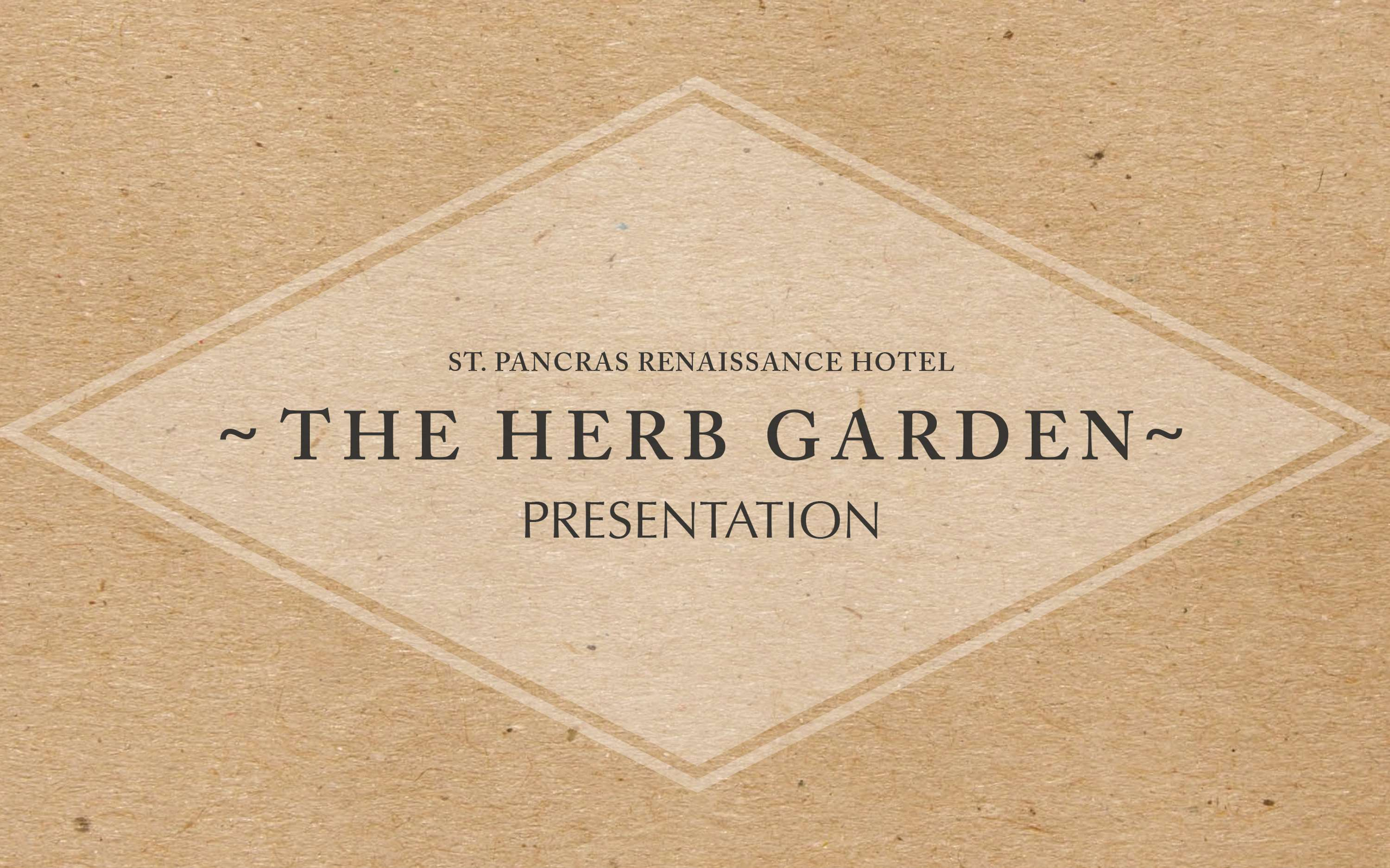 Proposal: St  Pancras Renaissance Herb Garden | The Dots