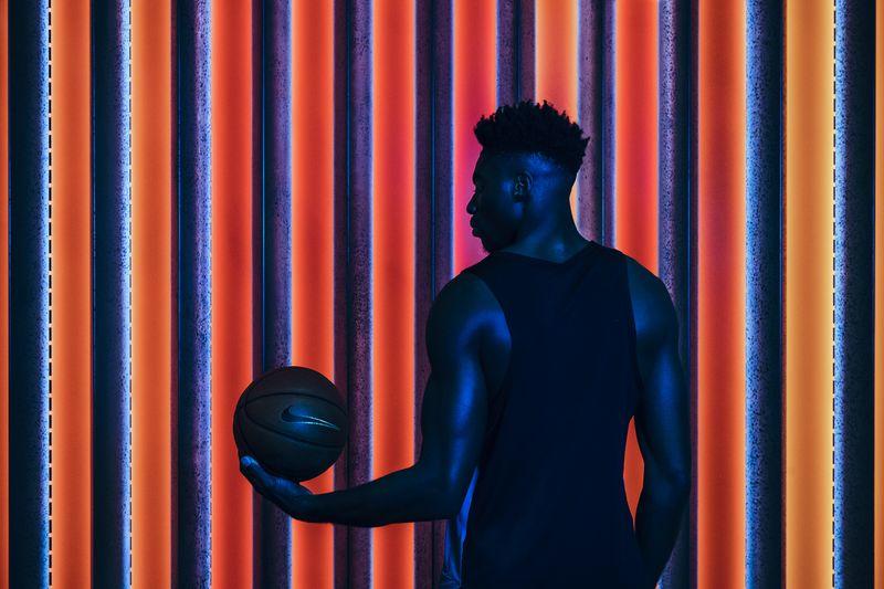 Jesse Chuku wearing Nike basketball kit.