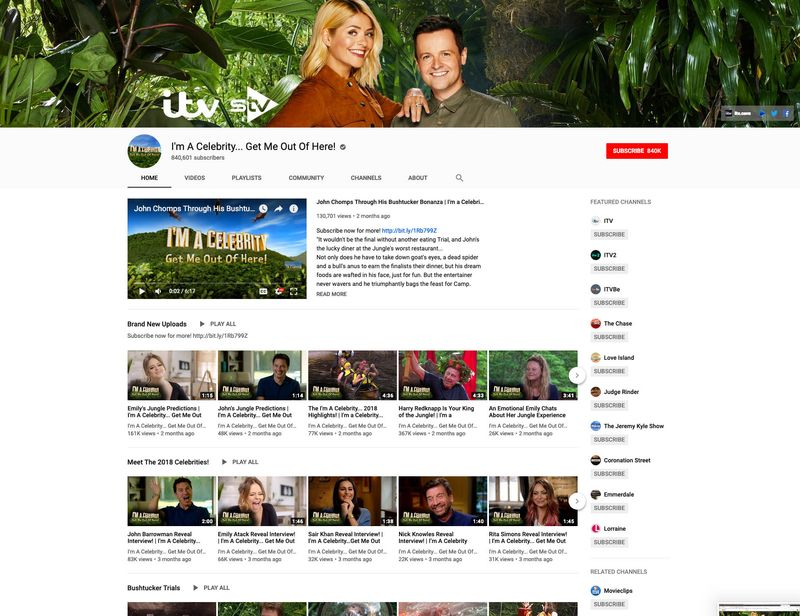 ITV YouTube Network - Commercial & Marketing Channels