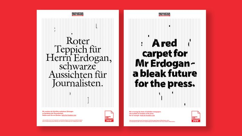 Reporters without Borders – Fonts for Freedom