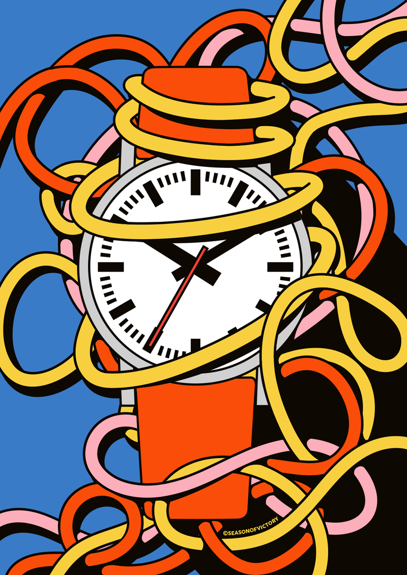 Editorial Illustration - poster, coverart, watch, time, illustration, editorial, magazine, branding, vm