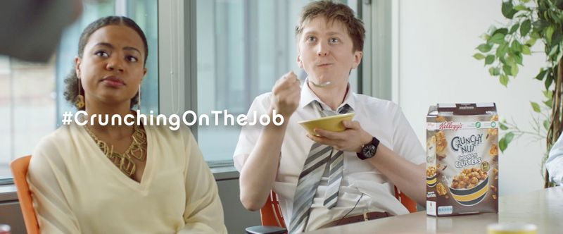 Crunchy Nut - Snacking On The Job