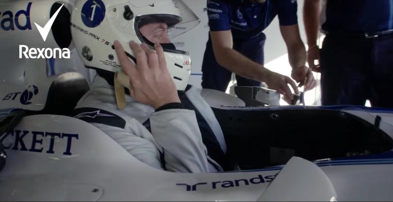 REXONA: Got the reflexes for Williams Racing?
