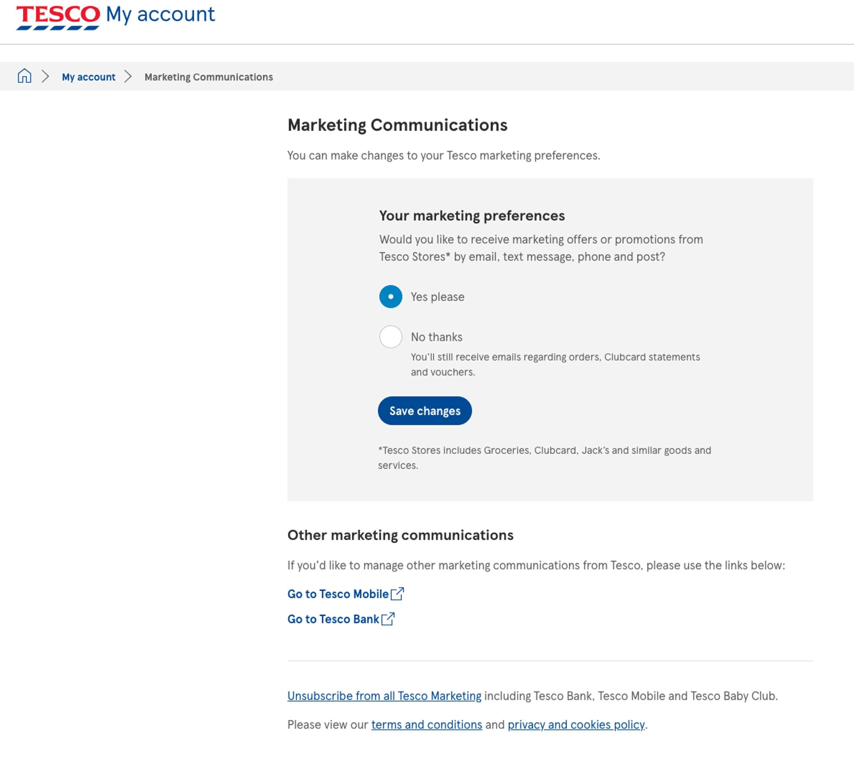 tesco marketing segmentation