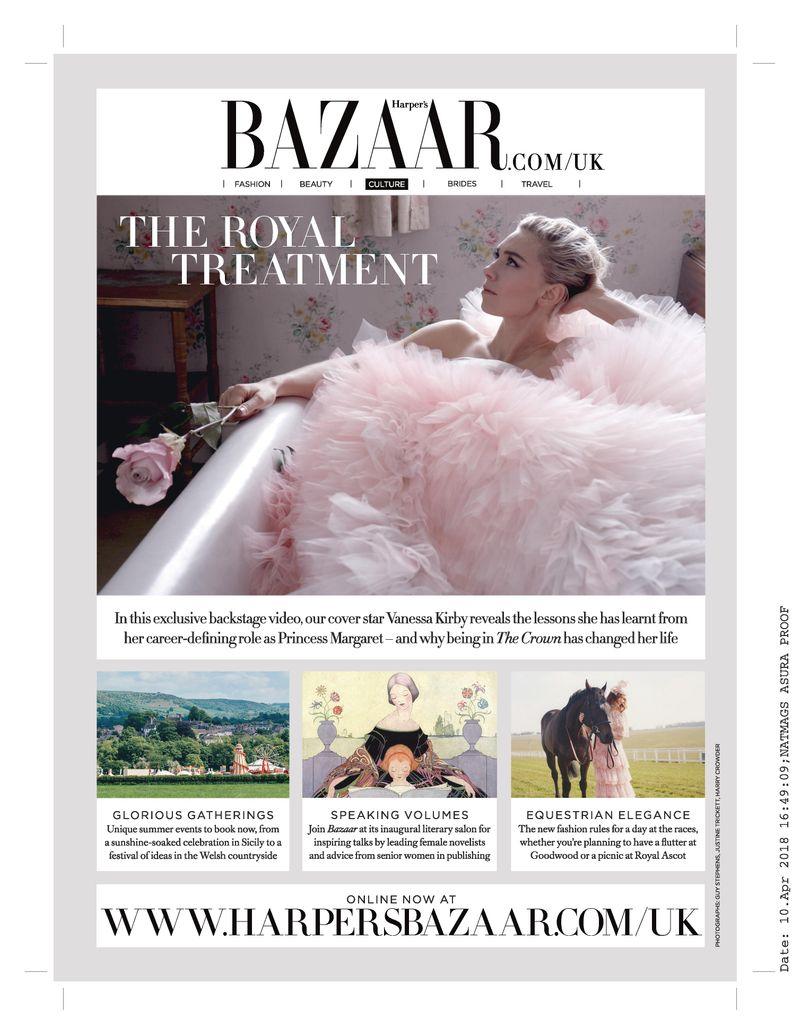 Harper's Bazaar art internship work