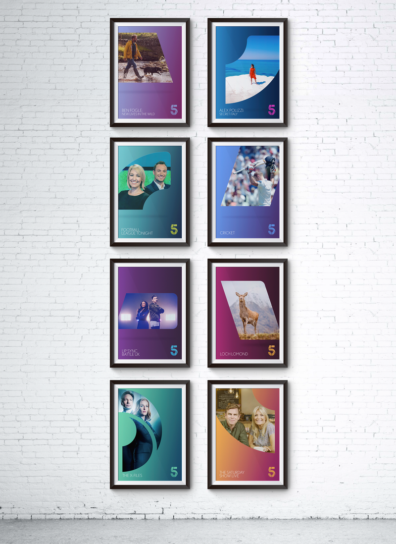 Channel 5 Re-Brand Posters